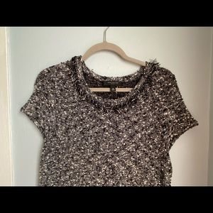 Ann Taylor tweed like dress with front pockets